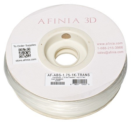 Bild von Specialty 3D Filament 1,75 , Transparent, 1kg, ABS Value Line