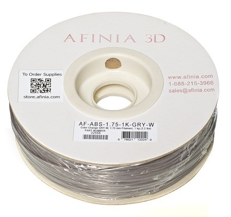 Bild von Specialty 3D Filament 1,75 , Color Change Grey to White , 1kg, ABS Value Line
