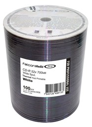 Bild von CD-Rohlinge Falcon Media FTI, Thermo Retransfer White 80min/700MB, 52x