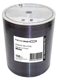 Bild von DVD-Rohlinge Falcon Media FTI, Thermo-Retransfer White 4,7 GB,8x