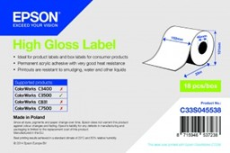 Bild von High Gloss Label - Continuous Roll: 102mm x 33m