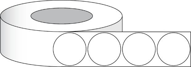 Papier Hochglanz Etikett 1 75 4 40 Cm Rund 1100 Etiketten Pro Rolle 2 Kern