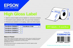 Bild von High Gloss Label - Die-cut Roll: 105mm x 210mm, 273 labels