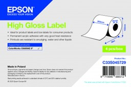Bild von High Gloss Label - Continuous Roll: 203mm x 58m